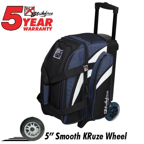 KR Strikeforce Cruiser Smooth 2 Ball Roller Bag Navy