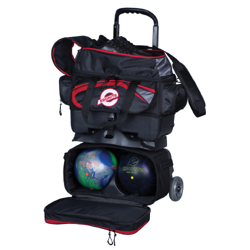 Ebonite Players 4 Ball Roller Bag Black/Red