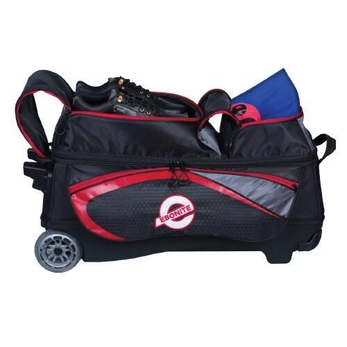Ebonite Players 3 Ball Roller Bag Black/Red