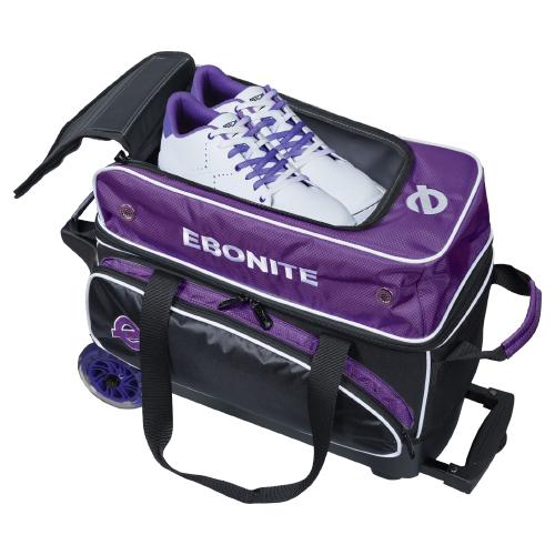 Ebonite Eclipse 2 Ball Roller Bag Purple