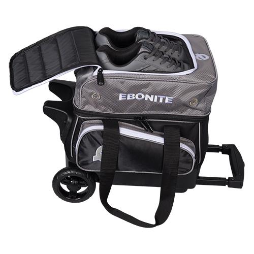 Ebonite Eclipse 1 Ball Roller Bag Silver