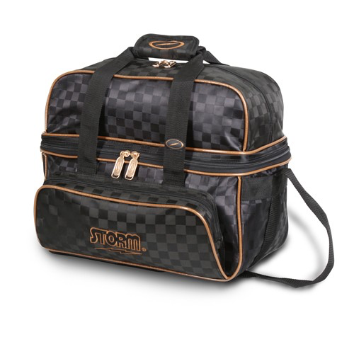 Storm 2-Ball Tote Deluxe Bowling Bag Checkered Black/Gold