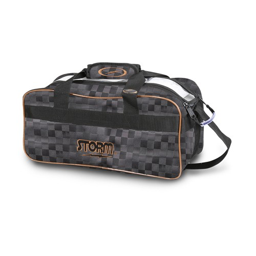 Storm 2-Ball Tote Bowling Bag Checkered Black/Gold