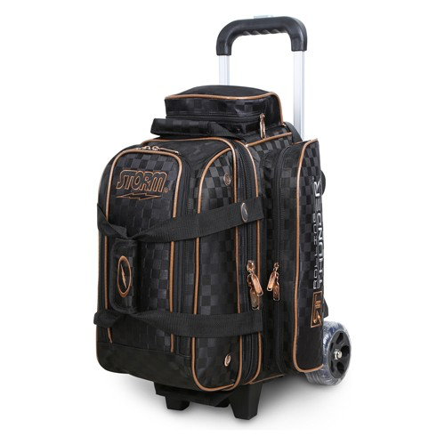 Storm 2-Ball Rolling Thunder Bowling Bag Checkered Black/Gold