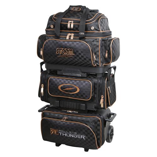 Storm 6-Ball Rolling Thunder Bowling Bag Checkered Black/Gold