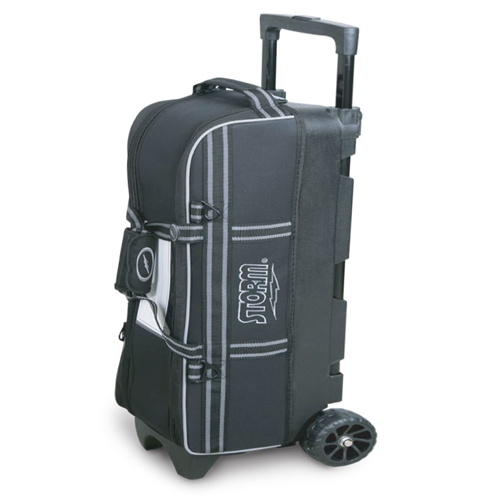 Storm 3-Ball In-Line Triple Bowling Tote Bag Black