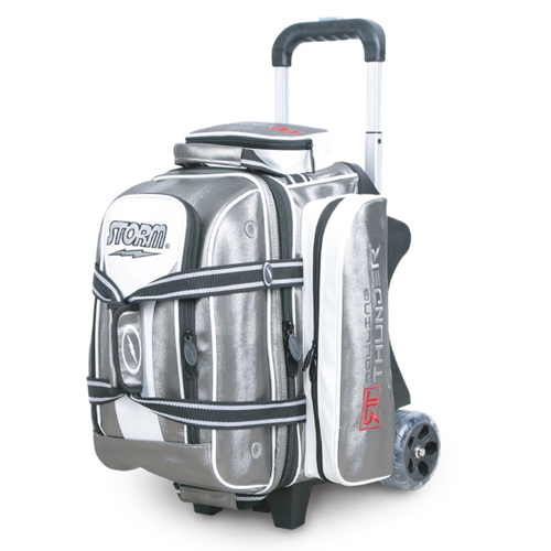 Storm 2-Ball Rolling Thunder Signature Bowling Bag Platinum