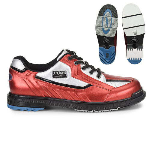 Storm SP3 Mens Bowling Shoes Metallic Red/Silver/Black