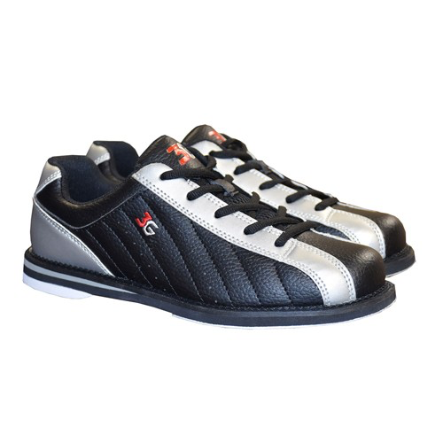 3G Kicks Men's Bowling Shoes Black/Silver