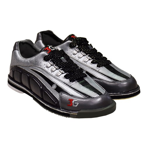 3G Tour Ultra Mens Bowling Shoes Black/Silver/Pewter Right Hand