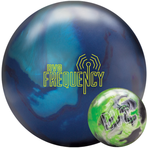 DV8 Frequency Bowling Ball with FREE DV8 Lime Luster Spare Ball