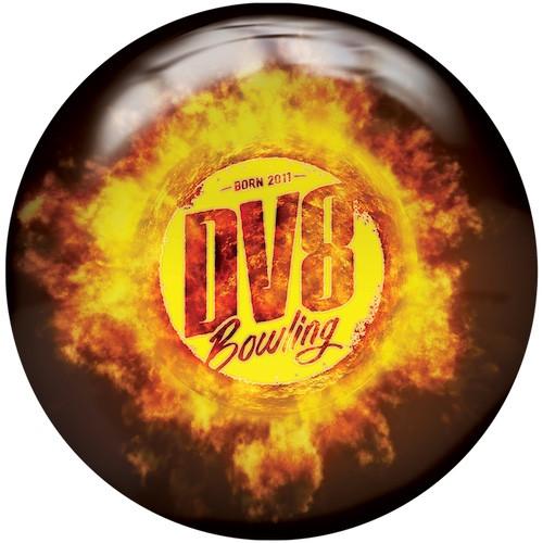 DV8 Scorcher Viz-A-Ball Bowling Ball Front