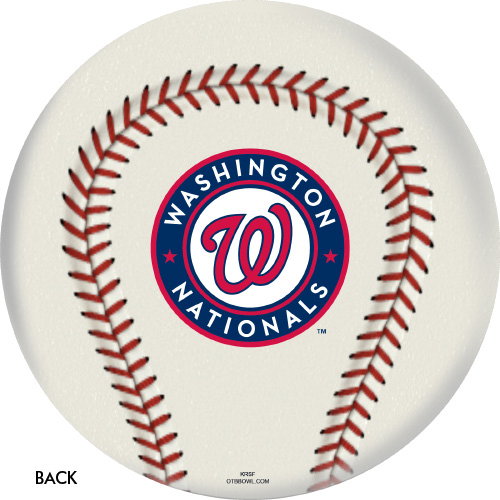 OTBB 2019 World Series Champion Washington Nationals Bowling Ball Back
