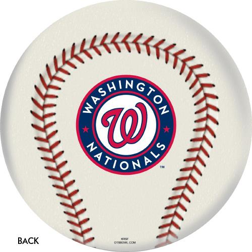 OTBB 2019 World Series Champion Washington Nationals Bowling Ball Back