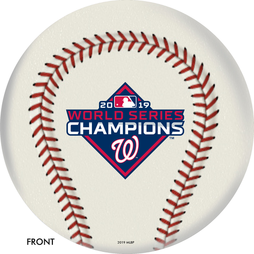 OTBB 2019 World Series Champion Washington Nationals Bowling Ball Front
