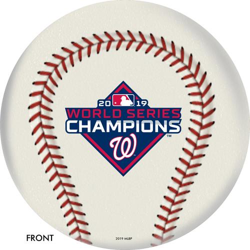 OTBB 2019 World Series Champion Washington Nationals Bowling Ball Front