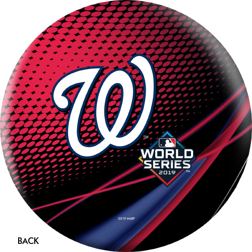 OTBB 2019 World Series Champion Washington Nationals Bowling Ball Red/Black