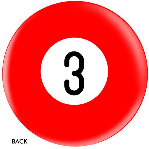 OTBB 3 Ball Red Bowling Ball
