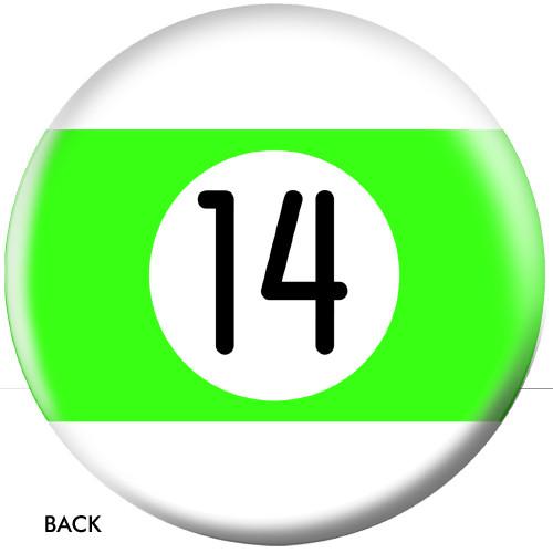 OTBB 14 Ball Green Stripe Bowling Ball