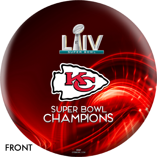 OTBB Super Bowl LIV Champions Chiefs V1 Bowling Ball