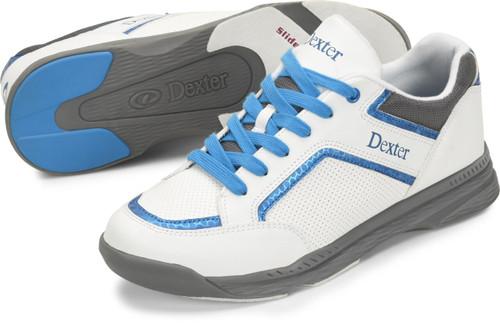 Dexter Bud Mens Bowling Shoes White/Blue