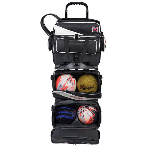 KR Strikeforce Fast 6 Ball Roller Bag Black/White
