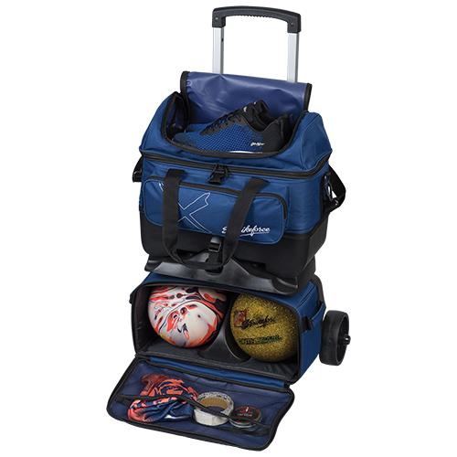 KR Strikeforce Hybrid X 4 Ball Roller Bag Navy