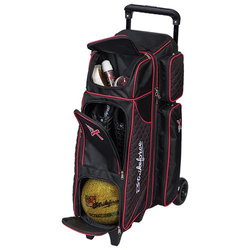 KR Strikeforce Royal Flush 4x4 4 Ball Inline Roller Bag Black/Red