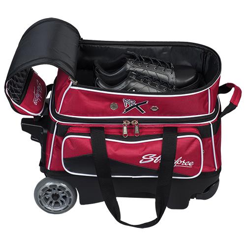 KR Strikeforce Royal Flush 2 Ball Roller Bag Red/Black