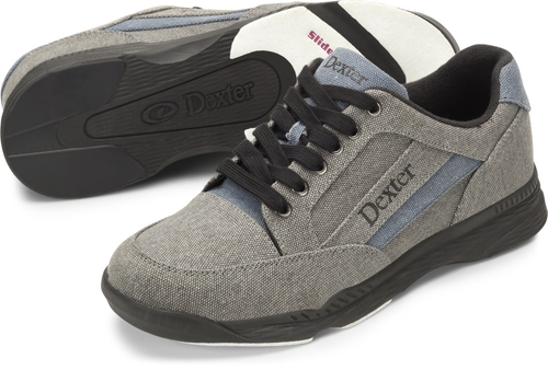 Dexter Brock Mens Bowling Shoes Grey/Blue/Black