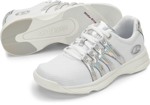 Dexter Kathy Womens Bowling Shoes White/Silver/Iredescent