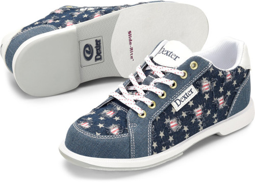 Dexter Liberty Womens Bowling Shoes Stars and Strikes