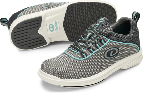 Dexter Robin Womens Bowling Shoes Grey/Robin Blue Right Handed
