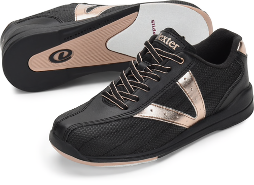 Dexter Vicky Womens Bowling Shoes Black/Rose Gold
