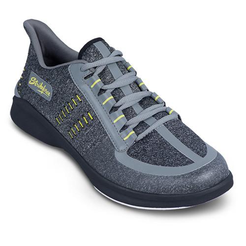 KR Strikeforce Mens Blaze Bowling Shoes Dark Grey/Yellow