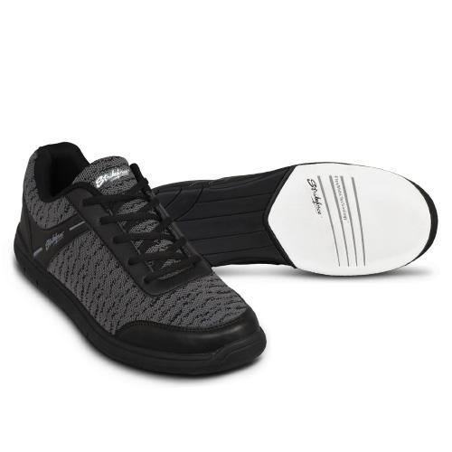 KR Strikeforce Men's Flyer Mesh Bowling Shoes Black/Steel WIDE WIDTH
