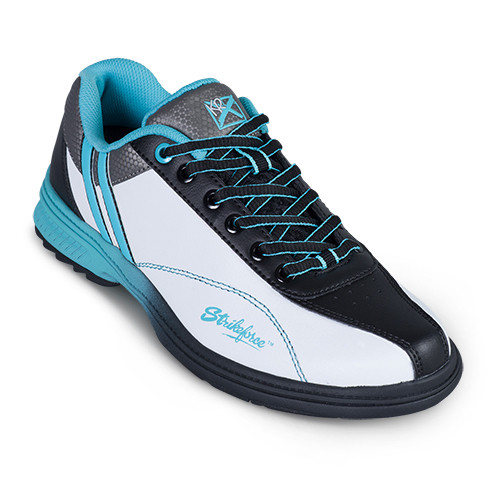 KR Strikeforce Womens Starr Bowling Shoes White/Black/Teal Right Hand WIDE