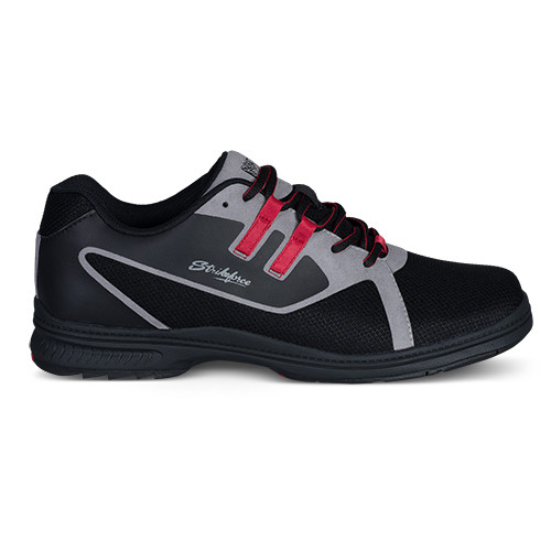 KR Strikeforce Mens Ignite Bowling Shoes Black/Grey/Red Right Handed WIDE