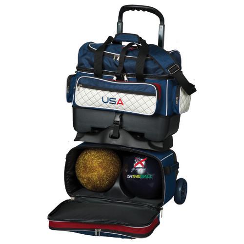 KR Strikeforce Royal Flush 4 Ball Roller Bag USA