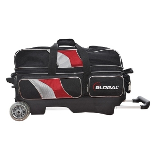 900 Global Deluxe 3 Ball Roller Black/Red/Silver