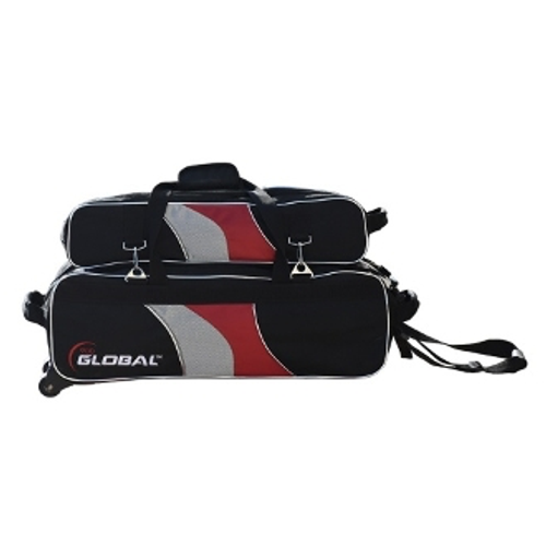 900 Global 3 Ball Deluxe Airline Tote Black/Red/Silver