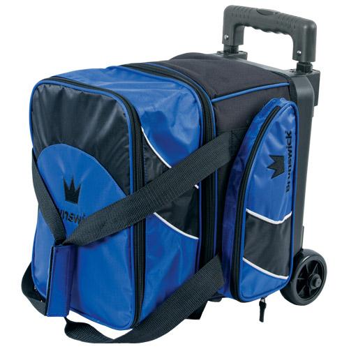Brunswick EDGE Premium 2 Ball Roller Bowling Bag 5-Inch Wheels Color Blue