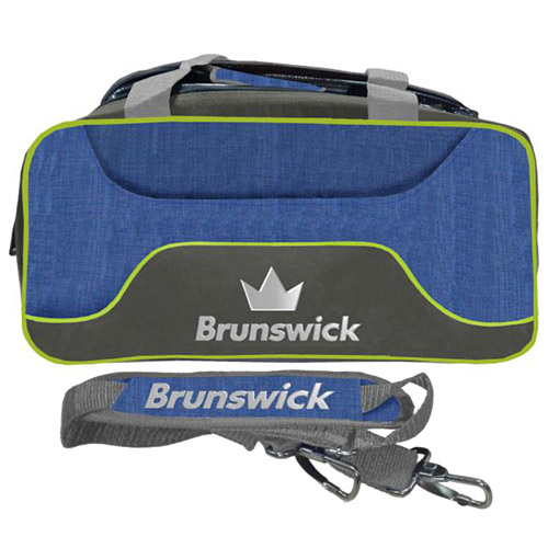 Brunswick Crown Deluxe Double Tote Bag Navy/Lime