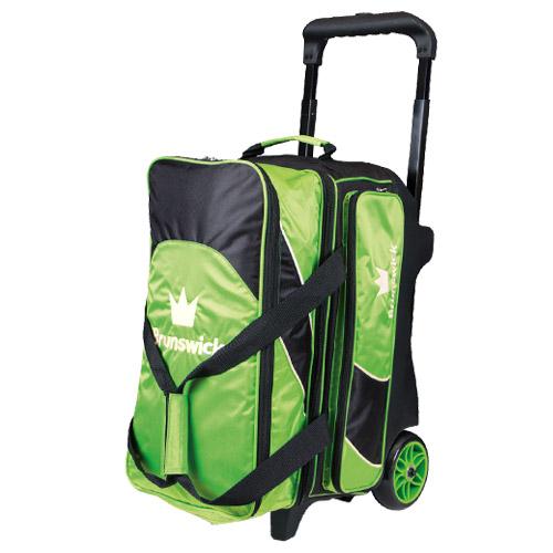 Brunswick Edge 2 Ball Roller Bag Lime