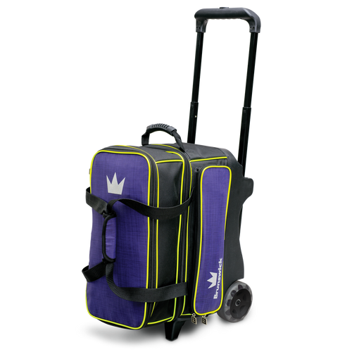 Brunswick Crown Deluxe 2 Ball Roller Bag Purple/Yellow
