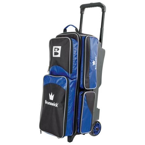 Brunswick Edge 3 Ball Roller Bag Blue