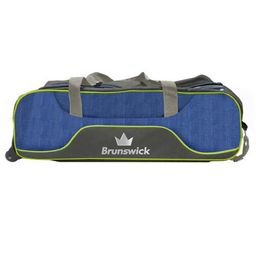 Brunswick Crown Deluxe Triple Tote Bag Navy/Lime