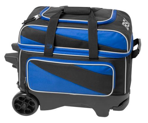BSI Deluxe 2 Ball Roller Bag Blue/Black
