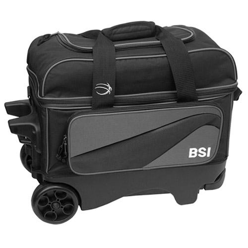 BSI Deluxe 2 Ball Roller Bag Grey/Black