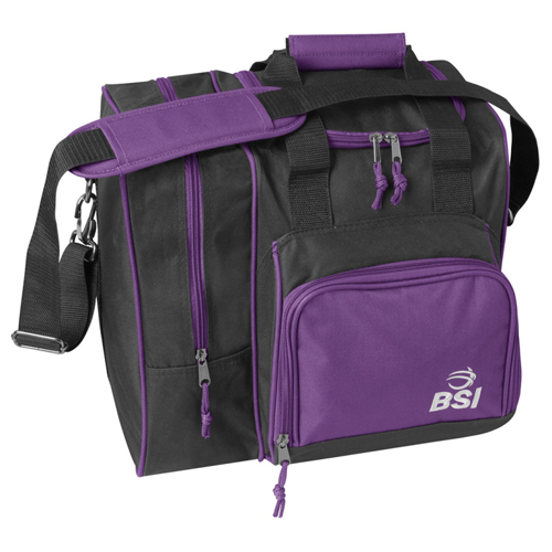 BSI Deluxe Single Ball Tote Bag Black/Purple